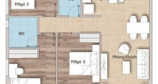 Hoàn thiện căn hộ 3 phòng ngủ 86m2 hiện đại Quận 9 91