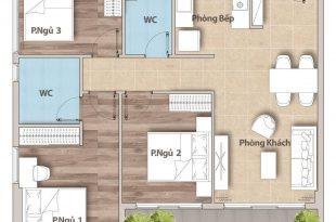 Hoàn thiện căn hộ 3 phòng ngủ 86m2 hiện đại Quận 9 89