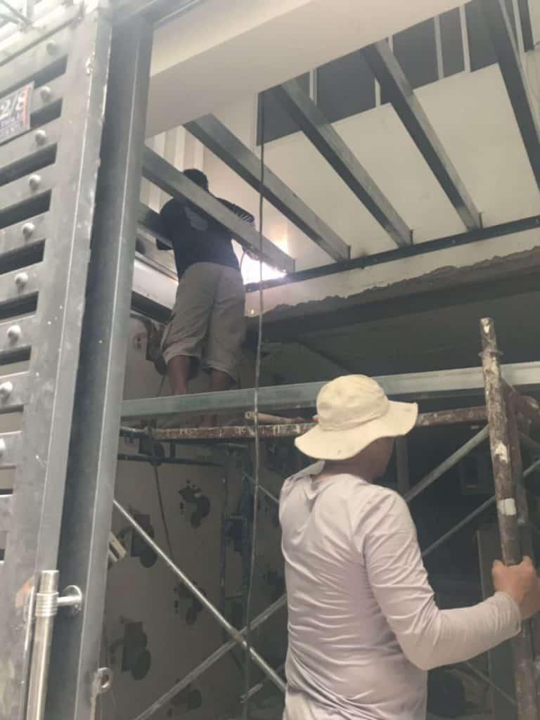 Thi công sàn gác lửng cemboard Thái Lan ở Nguyễn Tiểu La, Quận 10 HCM 1