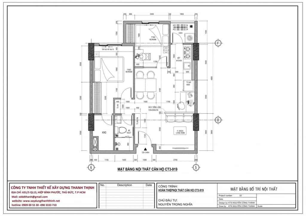 Thi Công Hoàn Thiện Chung Cư Sky 9 Quận 9 (2 Phòng Ngủ) 2