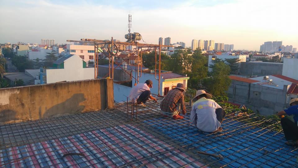 Thi công nâng tầng bê tông cốt thép nhà 6x10m Q. Thủ Đức 3