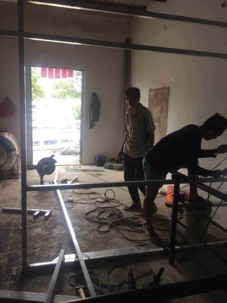 Thi công cải tạo sàn cemboard thái lan ở bình dương diện tích 3.2x16m 3