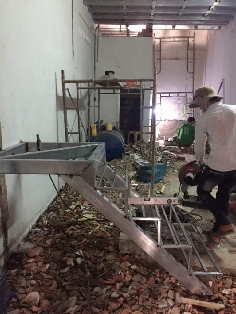 Thi công cải tạo sàn cemboard thái lan ở bình dương diện tích 3.2x16m 6