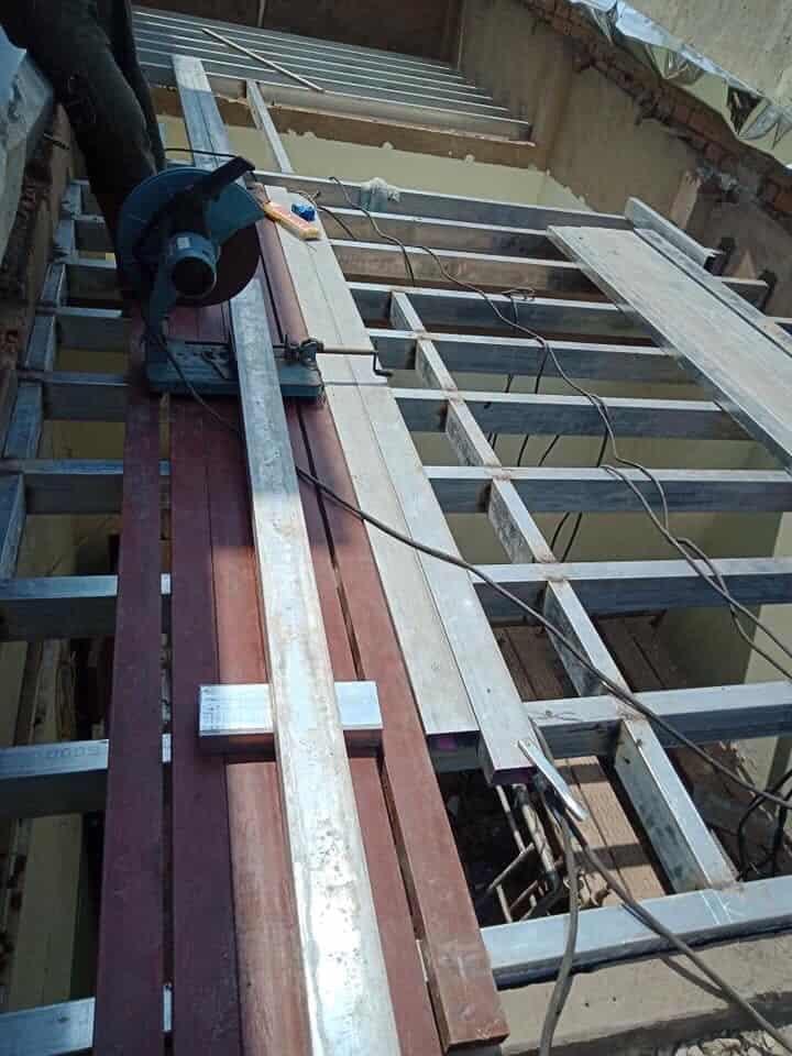 Sửa chữa cải tạo nâng tầng bằng tấm cemboard thái lan ở gò vấp 8