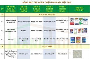 Báo Giá Gói Thi Công Hoàn Thiện Nhà Thô, Căn Hộ Mới Ở TPHCM 4