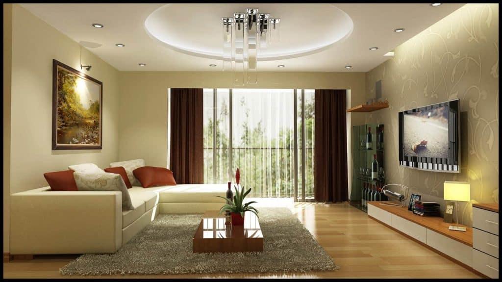 lựa chọn gam màu đẹp cho phòng khách