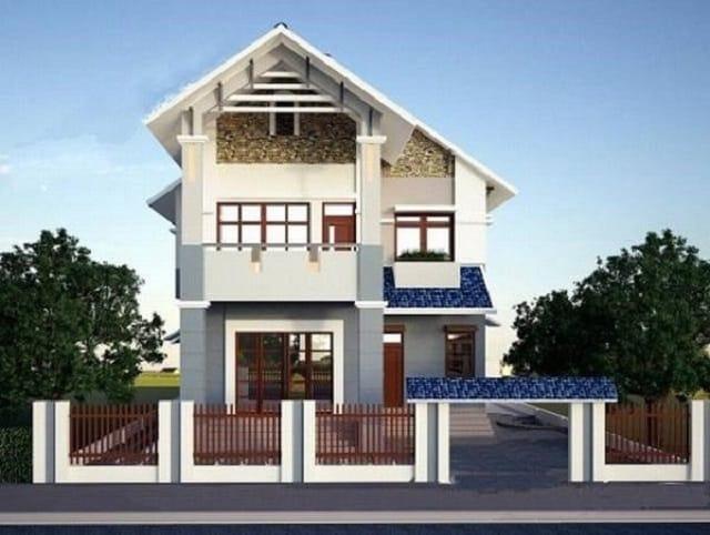 Nhà mái thái hai tầng rất được ưa chuộng ở các vùng nông thôn lẫn thành thị