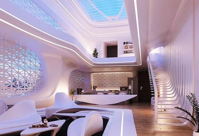 Thiết kế bên trong sang trong và hiện đại, phong cách nhà Oganic vô cùng thu hút và đắt đỏ bởi các loại nội thất