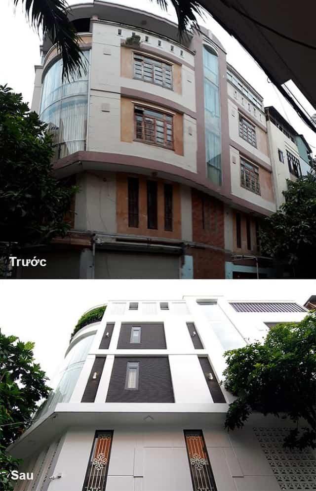 Nhà ở số 1 trước và sau khi sửa chữa, cải tạo
