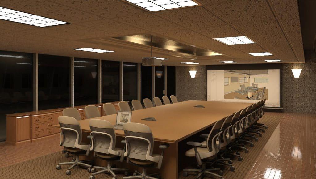 Phòng họp số 3 sau khi sửa chữa, cải tạo trở nên đẳng cấp hơn