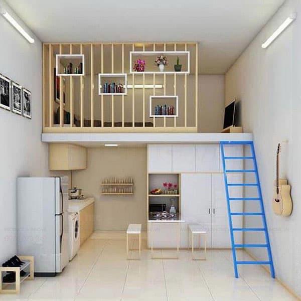 Thiết kế theo phong cách tối giản, hiện đại là giải pháp tốt nhất cho các gian phòng có diện tích nhỏ