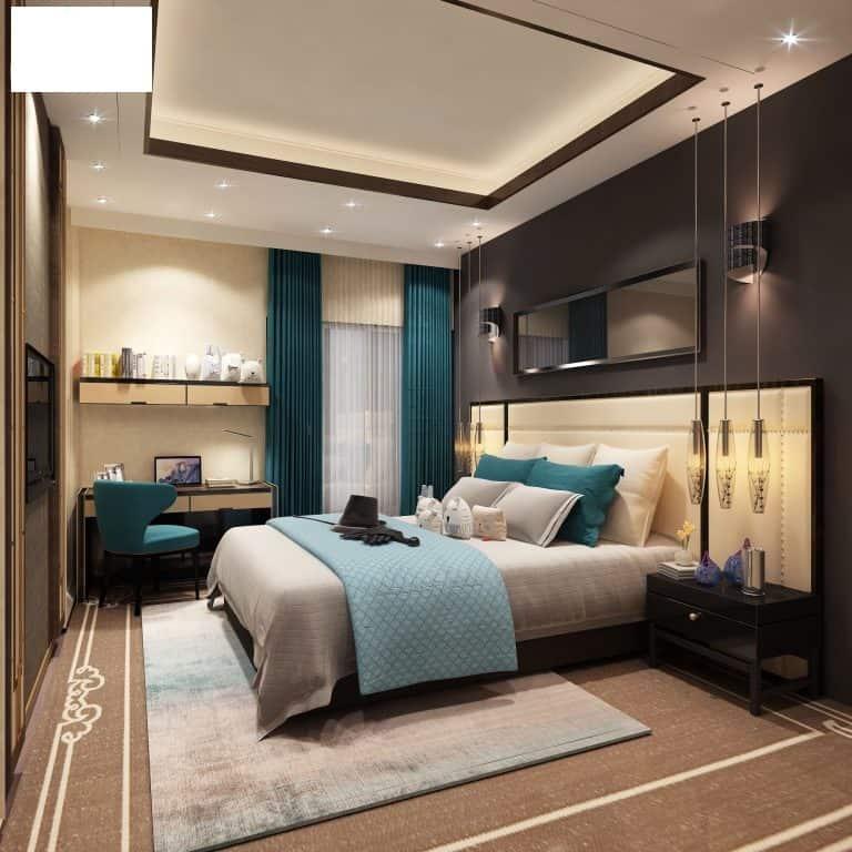 Không gian phòng ngủ của căn biệt thự số 3 sau khi cải tạo trở nên trang nhã và ấm cúng