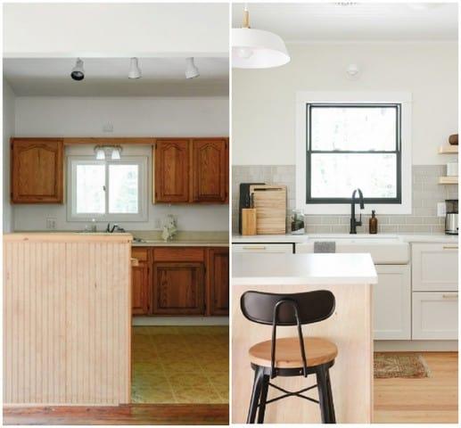 Mẫu nhà bếp nhỏ nhắn, xinh xắn hợp với ngôi nhà có không gian hẹp