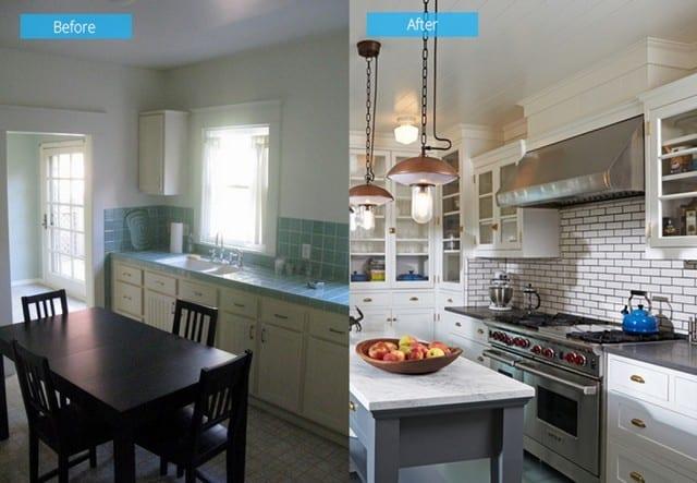 Mẫu nhà bếp tích hợp phòng ăn cần tạo được cảm giác ấm cúng