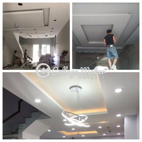 Đội ngũ thi công Thanh Thịnh sửa chữa trần nhà thạch cao