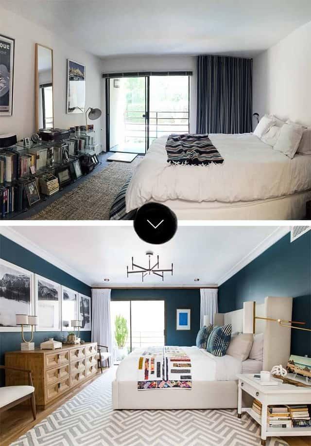 Hình ảnh căn phòng trước và sau cải tạo