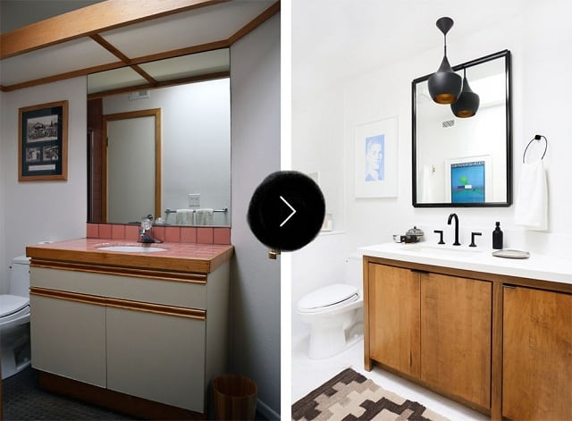 Phòng tắm sau khi cải tạo rất sang trọng