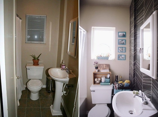 Mẫu phòng tắm sau khi được cải tạo trở nên sáng và sạch hơn