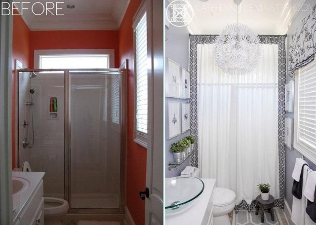 Thay đổi màu sắc khiến phòng tắm trở nên sang trọng hơn
