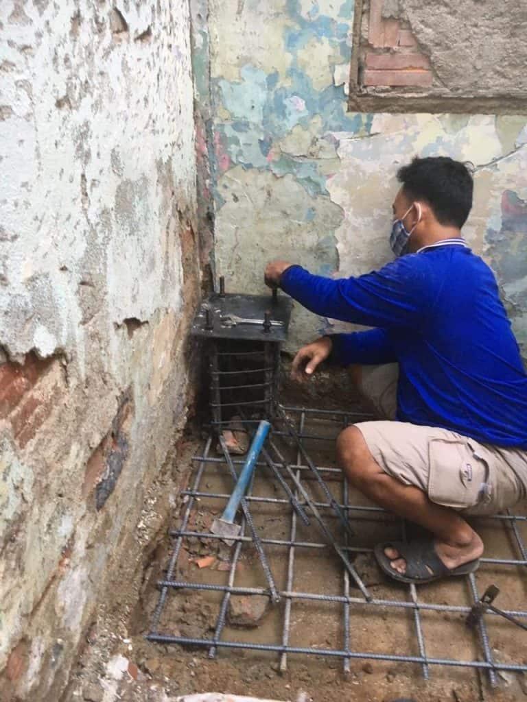 Nâng 2 Tầng Nhà Móng Yếu Bằng Tấm Cemboard Thái Lan ở Phú Nhuận 3