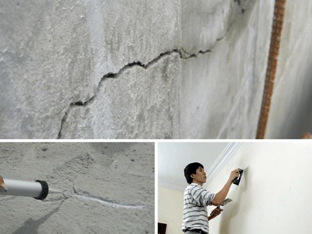 Để khắc phục các vết nứt thì cách tốt nhất chính là phải tìm ra nguyên nhân khiến nó bị nứt