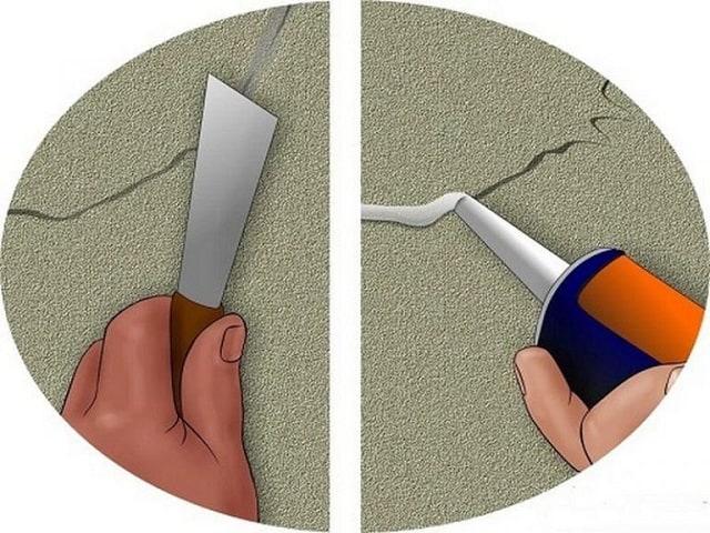 xử lý vết nứt trần nhà
