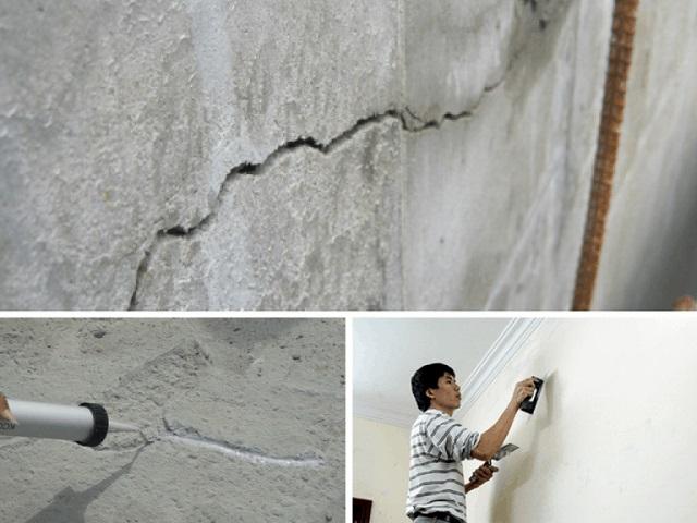 cách xử lý vết nứt trần nhà hiệu quả