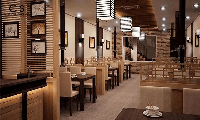 Nhà hàng thiết kế các vách ngăn tạo không gian riêng tư cho thực khách