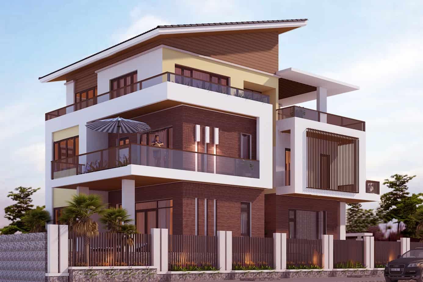 33 mẫu thiết kế nhà hiện đại đẹp ấn tượng nhất 9