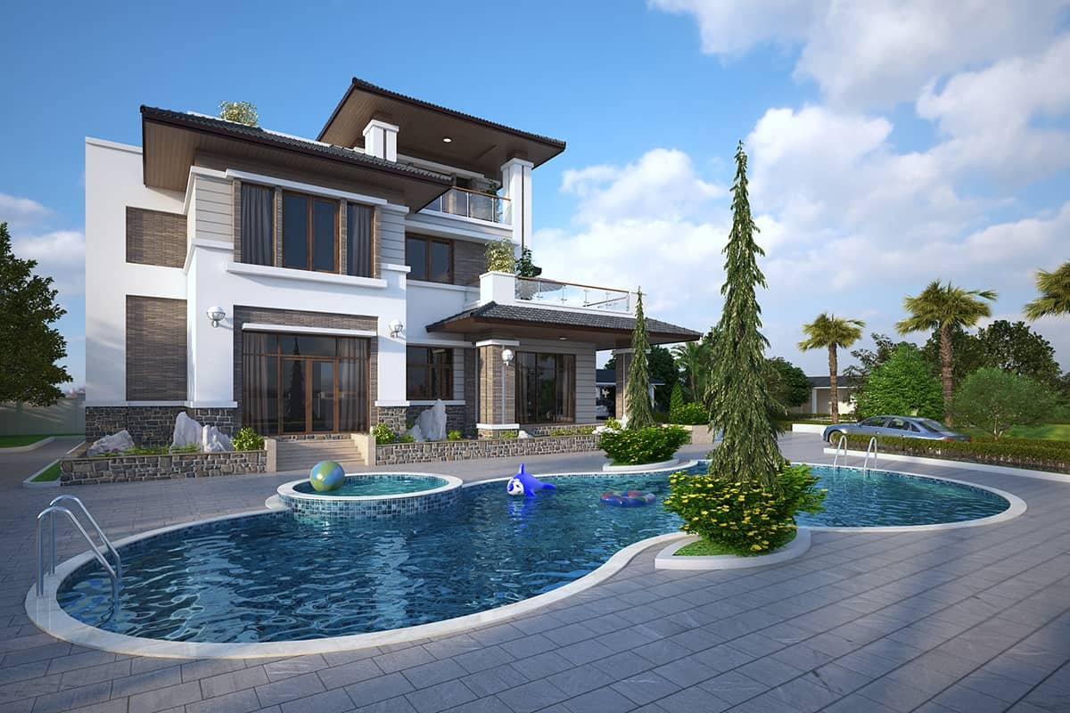 33 mẫu thiết kế nhà hiện đại đẹp ấn tượng nhất 10