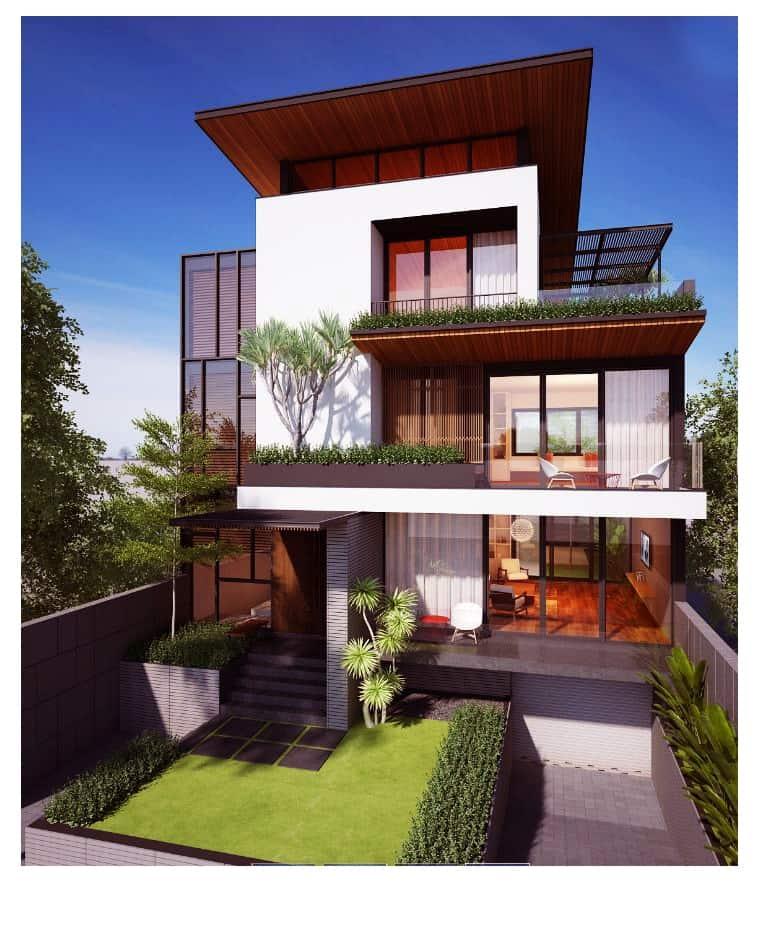 33 mẫu thiết kế nhà hiện đại đẹp ấn tượng nhất 11