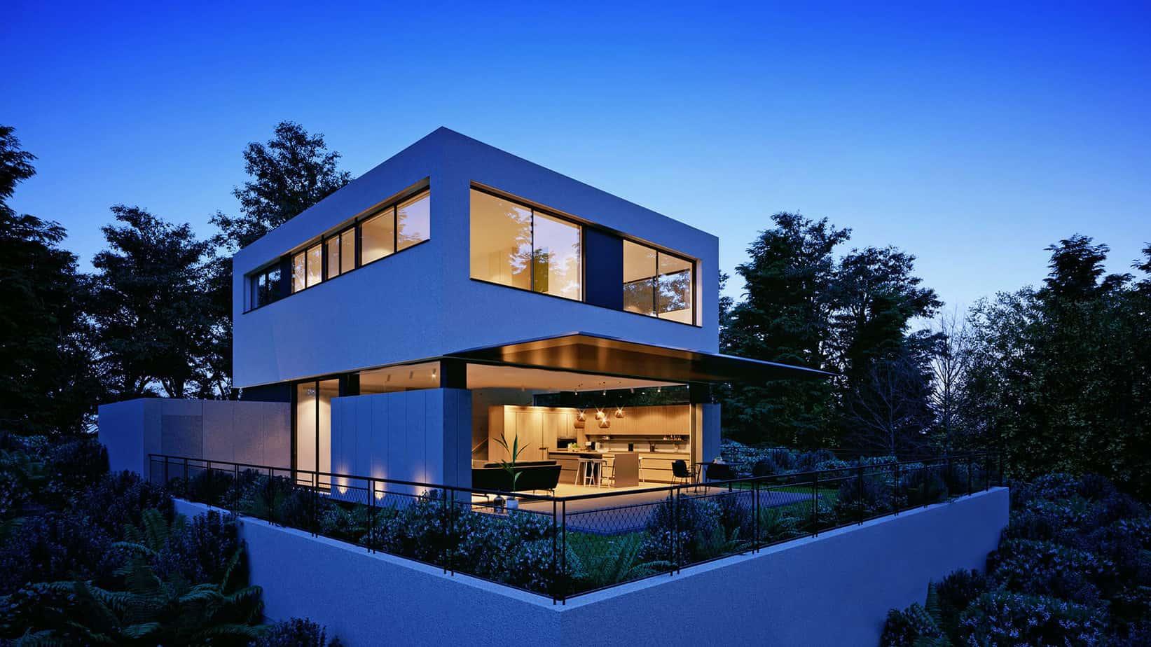 33 mẫu thiết kế nhà hiện đại đẹp ấn tượng nhất 13