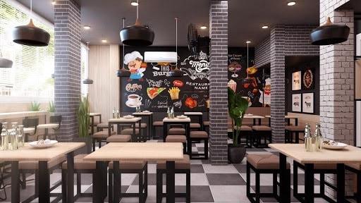 Không gian bên trong nhà hàng được thiết kế ấn tượng, độc đáo với những chi tiết trang trí ấn tượng