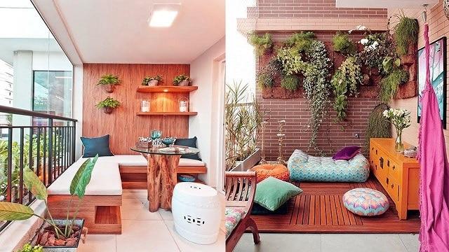 Không gian ban công chung cư biến thành nơi tiếp khách và thư giãn thú vị