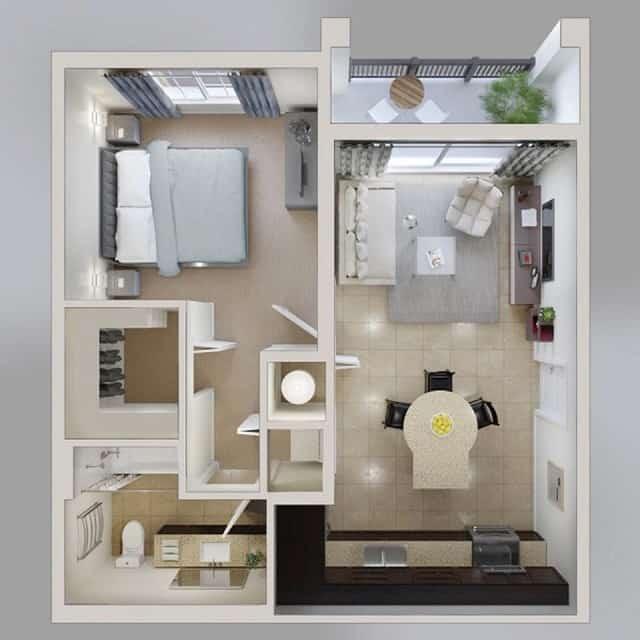 33 mẫu thiết kế căn hộ chung cư đẹp ấn tượng nhất 10