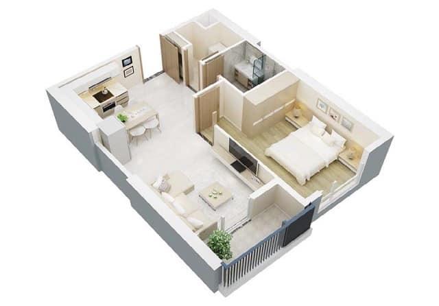 33 mẫu thiết kế căn hộ chung cư đẹp ấn tượng nhất 14