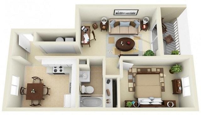 33 mẫu thiết kế căn hộ chung cư đẹp ấn tượng nhất 15