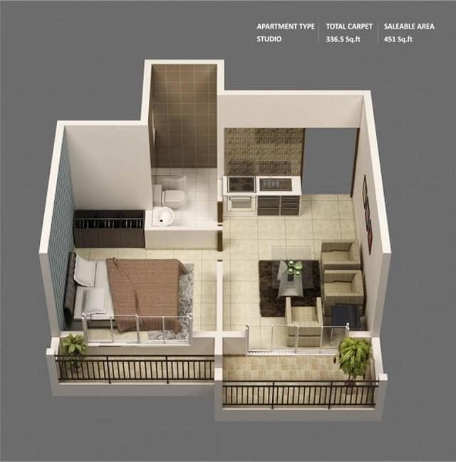 33 mẫu thiết kế căn hộ chung cư đẹp ấn tượng nhất 17