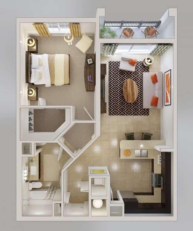 33 mẫu thiết kế căn hộ chung cư đẹp ấn tượng nhất 19