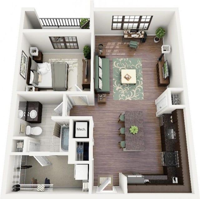 33 mẫu thiết kế căn hộ chung cư đẹp ấn tượng nhất 20