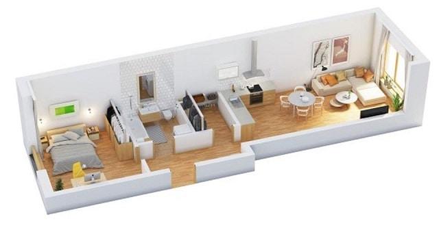 33 mẫu thiết kế căn hộ chung cư đẹp ấn tượng nhất 22