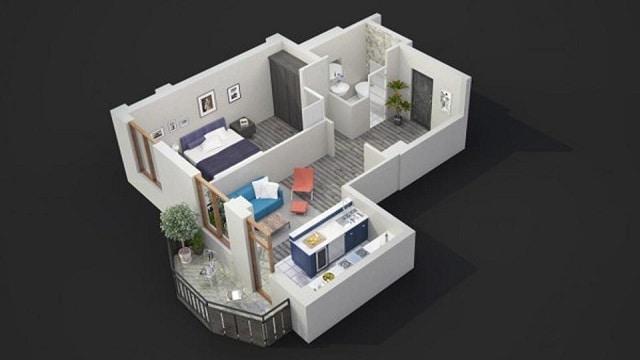 33 mẫu thiết kế căn hộ chung cư đẹp ấn tượng nhất 25