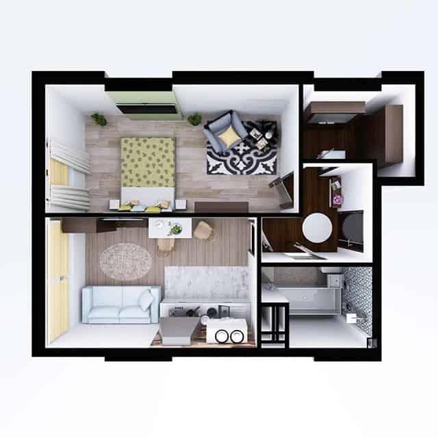 33 mẫu thiết kế căn hộ chung cư đẹp ấn tượng nhất 26