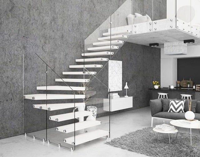 Mẫu cầu thang sang trọng cho ngôi nhà có diện tích rộng