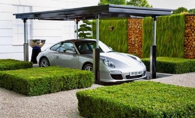 33 mẫu thiết kế nhà để xe đẹp ấn tượng nhất 25