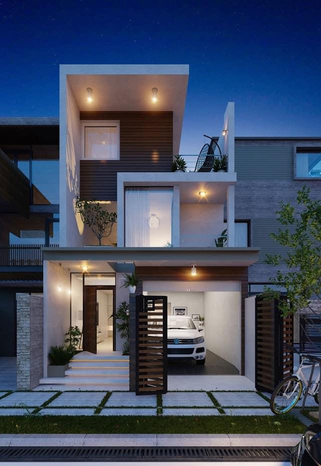 33 mẫu thiết kế nhà để xe đẹp ấn tượng nhất 1