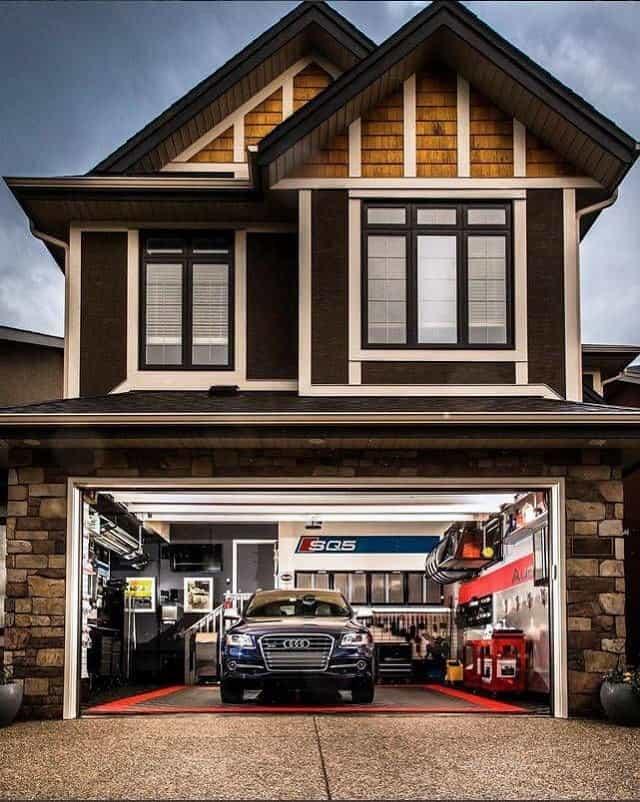 33 mẫu thiết kế nhà để xe đẹp ấn tượng nhất 14
