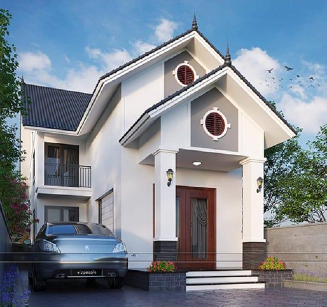 Nhà 2 tầng mái thái kiểu cổ điển