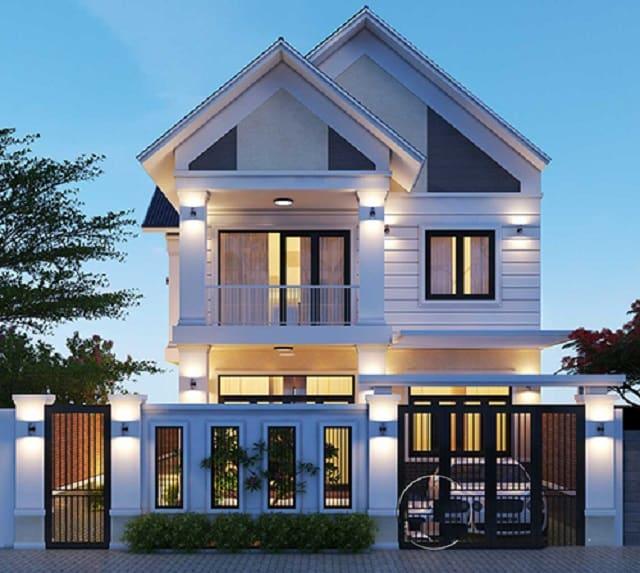 Nhà 2 tầng mái thái toát lên vẻ đẹp thanh thoát, cao ráo