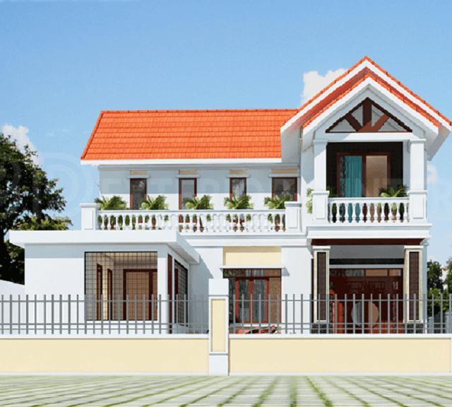 Nhà 2 tầng mái thái diện tích rộng hay hẹp vẫn tôn vinh được nét sang trọng